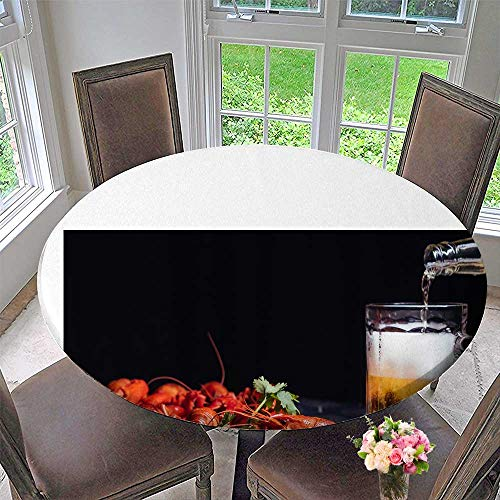 Mikihome Chateau Easy-Care Cloth Tablecloth Summer Lobster Beer for Home, Party, Wedding 40