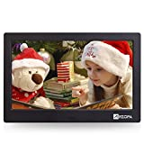 Advanced Digital Picture Photo Frame - 720P and Partial 1080P HD IPS Widescreen Eletronic Picture Frame Advertising Player with Calendar/Clock/Remote Control Black 10-inch