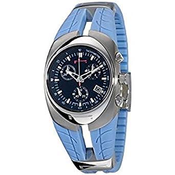 Uhr Pirelli Damen 7951902575 Quarz (Batterie) Stahl Quandrante schwarz Armband Kautschuk