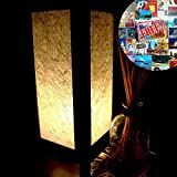 Cheap Table Lamp Lighting Shades Floor Desk Outdoor Touch Room Bedroom Modern Vintage Handmade Asian Oriental Wood LED Bedside Gift Art Home Garden Christmas; Free Adapter; Us 2 Pin Plug #23