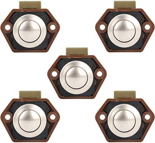 Bona 5 Pack Push Button Catch Door Lock 15 – 27 mm Bloqueo Regulador para Barco Pferdeanhänger Camper RV: Amazon.es: Coche y moto