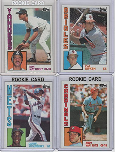 (1984 Topps Baseball Complete Set 1-792. This set includes the Don Mattingly, Darryl Strawberry, Andy Van Slyke Rookie Cards & Many Hall of Famers)