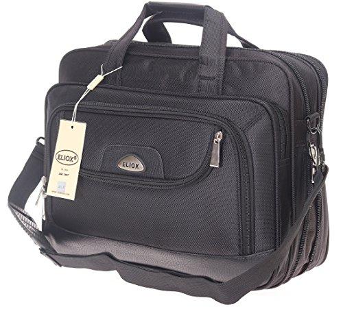 Schultertasche Flugbegleiter Umhängetasche Business Messenger Bag Citybag Tasche Black NEU