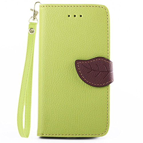 Motorola Moto G (2nd generation) Case, IVY Green - Leaves Magnetic Snap Series Wallet Card Flip Synthetic Holster Leather Stand With Lanyard Case Cover Skin For Motorola Moto G (2nd generation)