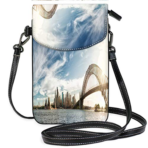 - Multicolor Shoulder Messenger Bag Phone Purse Sunset Over Sydney Panorama Casual, Lightweight Multi Pockets Crossbody Bag