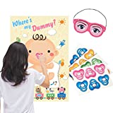 Great Idea for Baby Shower Party Games. Enjoy your time with this game - pin the dummy on the baby. Quality and Satisfaction guaranteed! 100% FUN