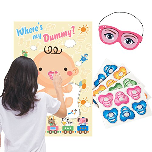 Baby Shower Party Favors and Game - Pin the Dummy on the Baby Game by ADJOY