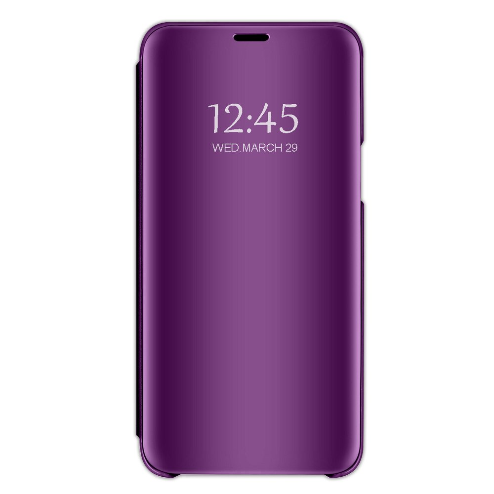 Case Compatible Samsung J6, Vertical Flip Smart Mirror Scratchproof Cover for Samsung J6 (Samsung J6, Purple) by 10-Japer