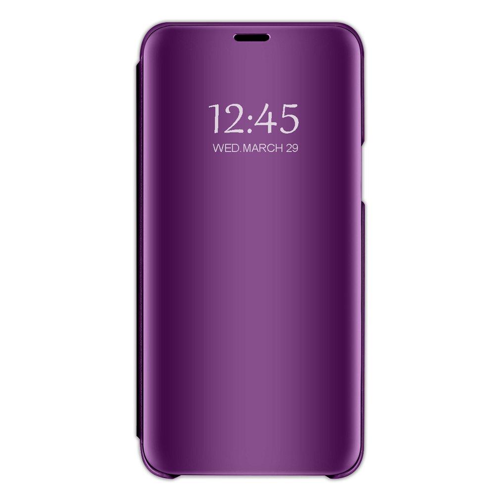 Case Compatible Samsung J6, Vertical Flip Smart Mirror Scratchproof Cover for Samsung J6 (Samsung J6, Purple)