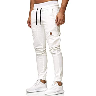 Pantalones Deportivos Multibolsillos Color sólido Pantalones para ...