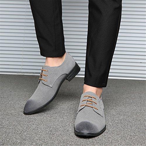 Zapatos Hombre de con Gris Planos AARDIMI Cordones Caucho fwdqdg