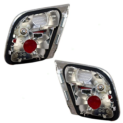Driver and Passenger Back-Up Backup Lights Lid Mounted Lamps Replacement for BMW 63218364727 63218364728