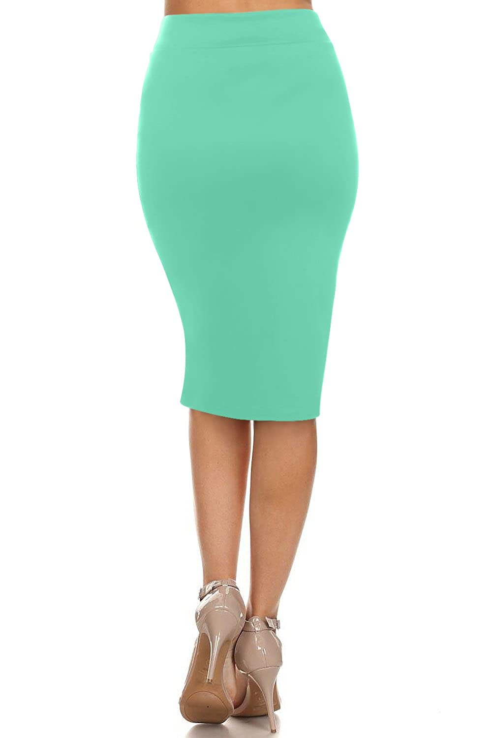 Made in USA Womens Below The Knee Pencil Skirt for Office Wear