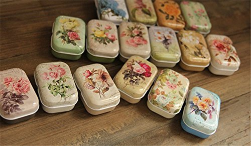 - 32 Piece/lot Vintage Style Mini Treasure Chest Storage Small Things Metal Tin Box 5.5*3.8*2.5cm Tea Candy Box Accessories