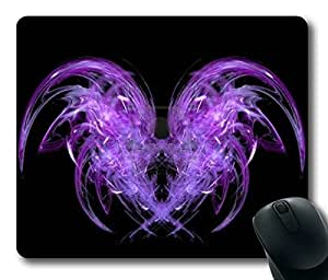 Purple And Black Oblong Mouse Pad by Cases & Mousepads by icecream design