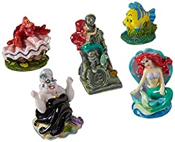 Penn Plax Little Mermaid 5-Piece Mini Resin Ornaments for Aquariums