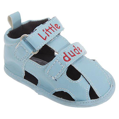 Patucos / Sandalias para bebes niños de Modelo Little Dude con correa de velcro Rojo
