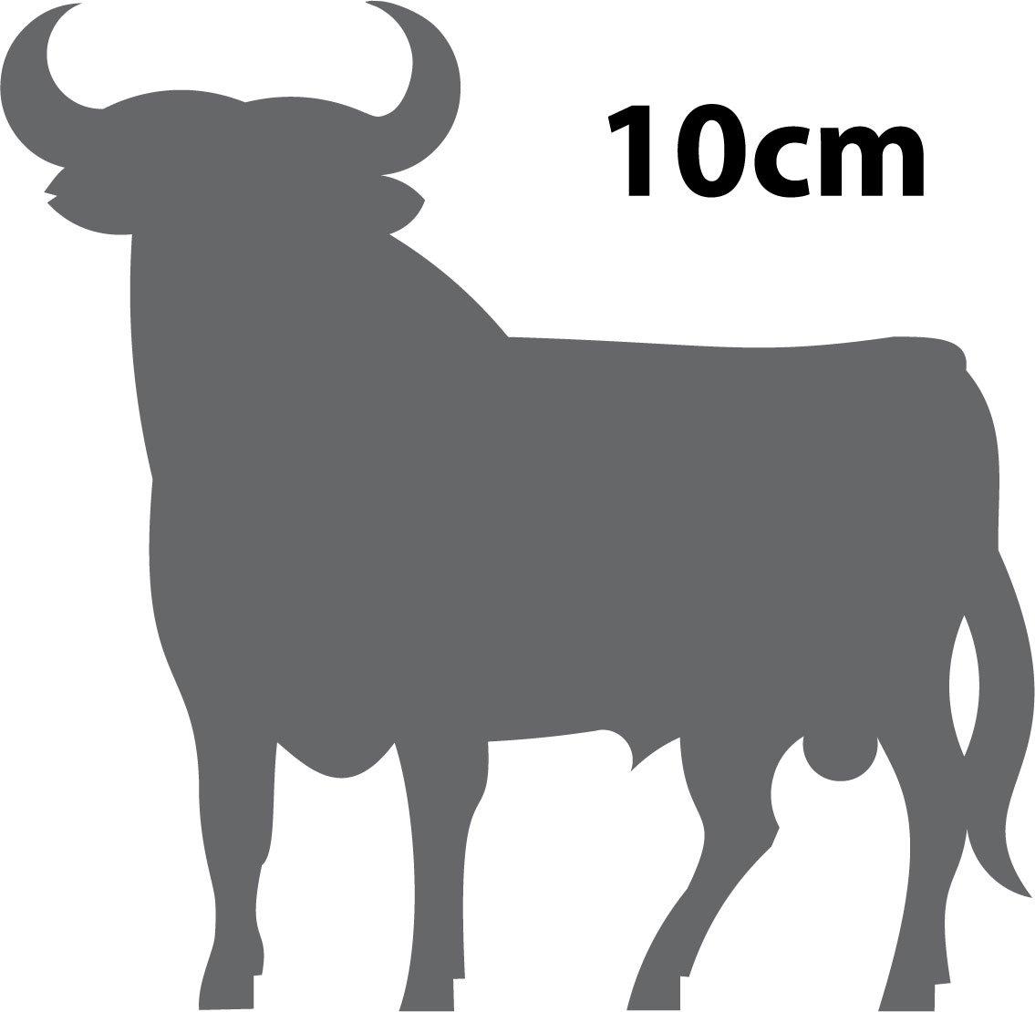 Autocollant toro taureau espagne stickers adhesif 8 cm noir