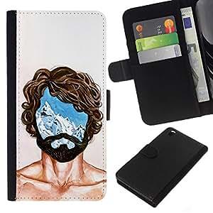All Phone Most Case / Oferta Especial Cáscara Funda de cuero Monedero Cubierta de proteccion Caso / Wallet Case for HTC DESIRE 816 // Portrait Man Mind Head Life Thoughts Symbol