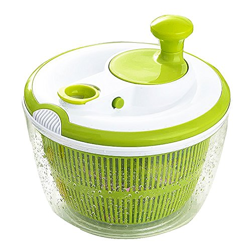 Haolide Multifunctional Durable BPA Free Food Safe Material Salad Spinner,360-Degree Rotating Household High-Speed Centrifuge Vegetables Quick Filter Baskets Lettuce Dryer Rotating Food Dehydrator