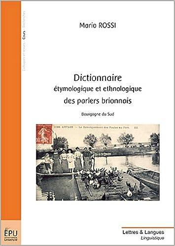 Book dictionnaire etymologique et ethnologique des parlers brionnais