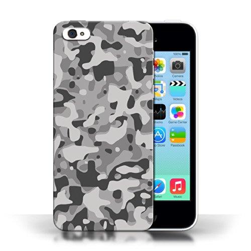Etui / Coque pour Apple iPhone 5C / Blanc 3 conception / Collection de Armée/Marine militaire/Camouflage