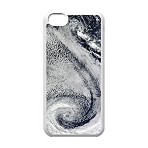 ZLGU(RM) Iphone 5C Case with Beautiful Clouds From Space Brand New Case, Custom Cover Case
