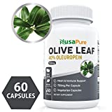 Best Olive Leaf Extract 750 mg 40% Oleuropein (Non-GMO & Gluten Free) – Vegetarian – Super Strength – Immune Support, Cardiovascular Health & Antioxidant Supplement – No Oil – 60 Capsules Review