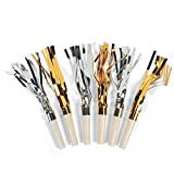 Gold and Silver Fringe Blowouts Squawkers - Great For Parties, Birthdays, New Years