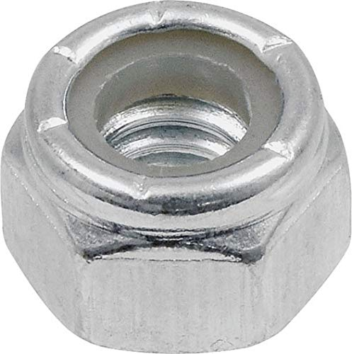 Hillman Group 180147 Nylon Insert Lock Nut, 1/4-Inch by 20-Inch, 100-Pack