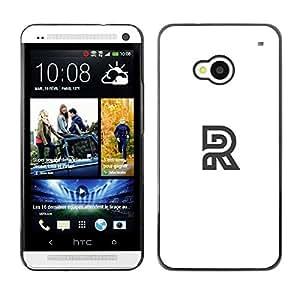 Be Good Phone Accessory // Dura Cáscara cubierta Protectora Caso Carcasa Funda de Protección para HTC One M7 // R logo white