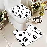 HuaWuhome 2 Piece Toilet mat Set Animal Foot s for Ecology Design 2 Piece Shower Mat Set
