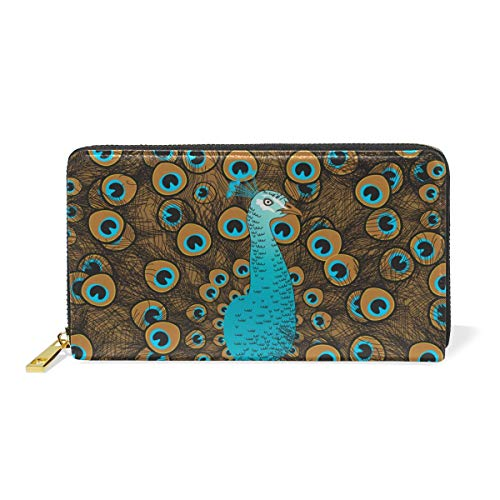 Clutch Organizer TIZORAX Around Zip Purses Womens Peacock Wallet And Handbags gSxAx7qEn6