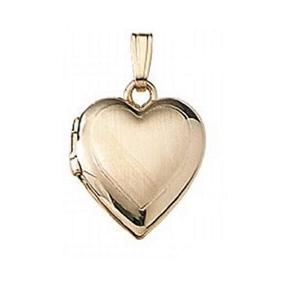c796d2fb1f Amazon.com: Solid 14K Yellow Gold Small Heart Locket 1/2 Inch X 1/2 Inch  Solid 14K Yellow Gold: Locket Necklaces: Jewelry