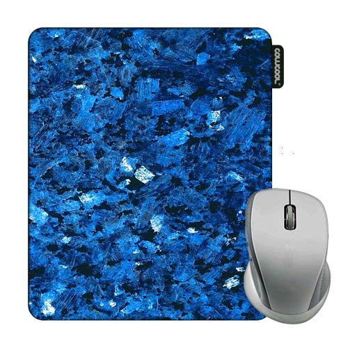 Cowcool Marble Pattern Mouse Pad Blue Flash Marble Texture Mouse Pads for Computers Laptop Gameing