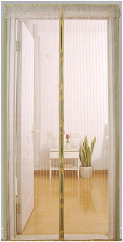 QDR Cortina Mosquitera para Puertas De PráCtica,Mosquitera Puerta Magnetica Blanca,para Puertas Correderas/Balcones/Terraza,90x220cm(35x87inch): Amazon.es: Hogar