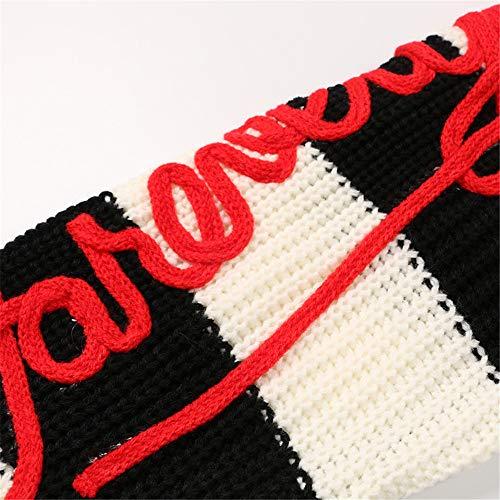 Donna Allentato Rosso Maglione Modello Signore Vestiti Maniche Pullover Ragazze Classico Keep Invernale Lunghe Super Reticolo Oversize Delle Le Top Vestito Caldo Maglieria Da Per xqInv4