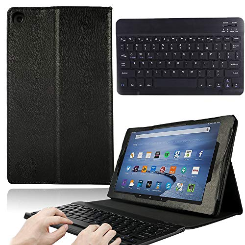 FINDING CASE For Amazon Fire 10 inch Tablet Alexa (9th 7th 5th Gen,released in 2019 2017 2015) – Folio Leather Smart…