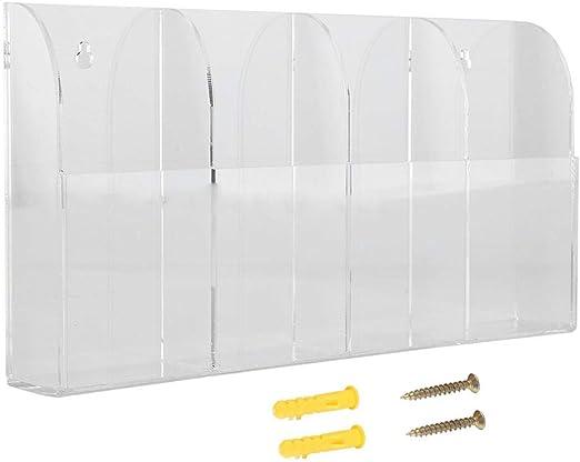 FTVOGUE - Funda para mando a distancia, soporte de pared de acrílico transparente, caja de almacenamiento para aire acondicionado, estéreo, mando a distancia de TV: Amazon.es: Hogar