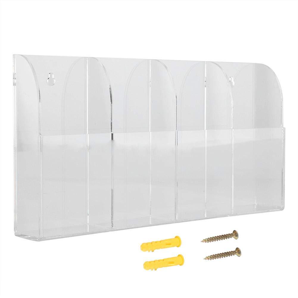 TV Fernbedienung Halter, Acryl Klimaanlage Nachttisch Veranstalter AufbewahrungsboxWall Mount Case Aufbewahrungsbox Aramox