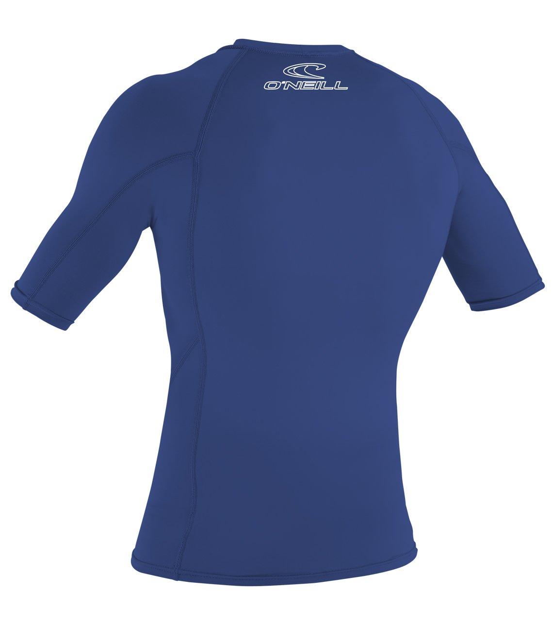 O Neill Wetsuits Basic Skins S/S Crew - Camiseta de poliester para hombre con proteccin UV Azul azul Talla:large