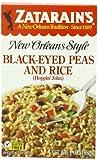 Zatarain's Black Eyed Peas & Rice, 7 oz (Case of 12)