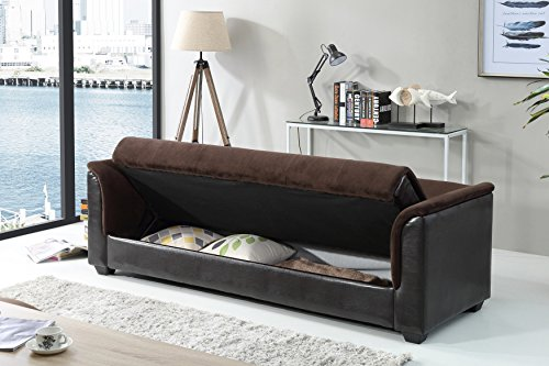 NHI Express 72016-06CH Melanie Champion Sofa Futon Bed, Chocolate,