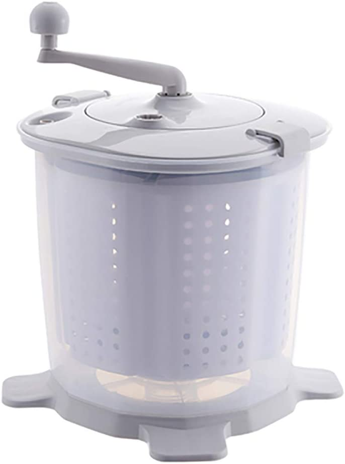 PLHMS Mini Hand Crank Washing Machine Dehydrator, Compact Spin Dryer, Portable Manual Non-Electric Washing Machine, Suitable for Dormitory, Apartment, Camping Laundry Alternative