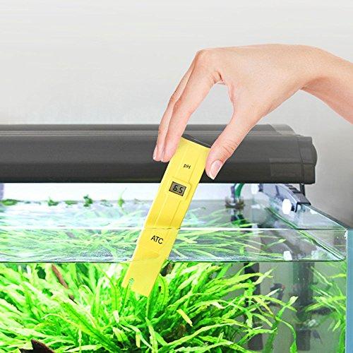 pH Medidor de Digital Portátil de Alta Precisión con ATC, LCD Retroiluminación y Funda, Tester para Acuarios, Industria de la Pesca, Piscinas, ...
