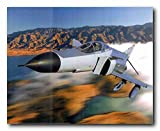 Military MD F-4 Phantom II Jet Aviation Aircraft Picture Wall Decor Art Print Poster (16x20)