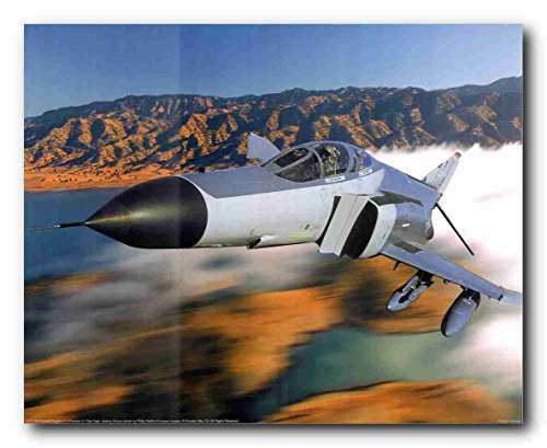 Military MD F-4 Phantom II Jet Aircraft Picture Art Print Poster (16x20) ()