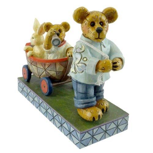 Jim Shore Bear (Boyds Bear Pulling Cart Boat by Jim Shore)