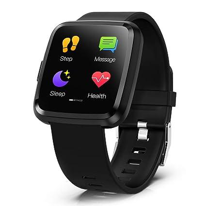 Lixada SmartWatch 1.3In Full Screen Touch Fitness Tracker ...