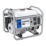 Hyundai GENHG01500AD 1500 Watt Portable Gas Powered Generator, Gray/Blue